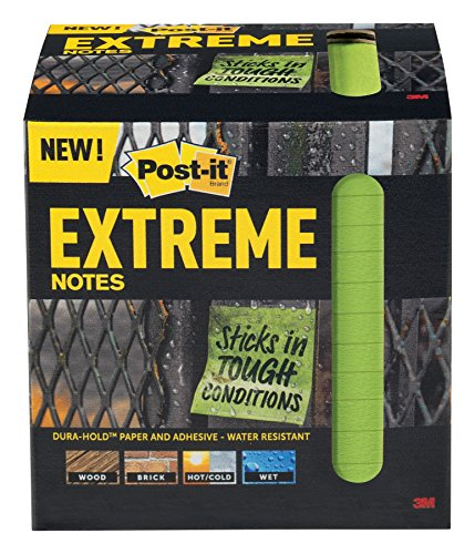 Post-it Extreme Notes, 3 in x 3 in, 12 pads, 45 sheets per pad, Green (EXTRM33-12TRYG)