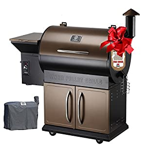 11. Z Grills Wood Pellet Grill & Smoker with Patio Cover