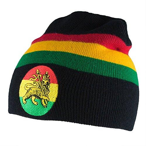 Rastafari - Rasta Lion of Judah Knit Beanie Black