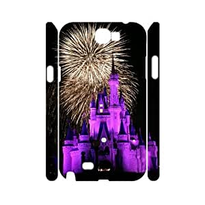 Disney Castle Customized 3D Case for Samsung Galaxy Note 2 N7100, 3D New Printed Disney Castle Case