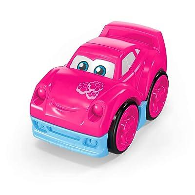 Mega Bloks Pink Race Car Building Set: Toys & Games