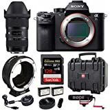 Sony a7S II ILCE7SM2/B 12.2 MP Full-Frame Sensor w/ Sigma Canon 18-35mm f/1.8 Lens & + Sigma USB Dock + Metabones Canon EF/EF-S Lens to Sony E Mount T Smart Adapter (Fifth Generation) 128GB Bundle
