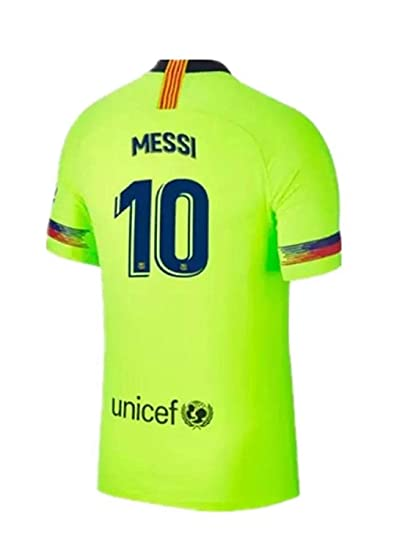 5d9945ccd71 Scshirt Men s Messi New Away Jerseys 18-19 Barcelona  10 Football Jersey  Soccer Jersey