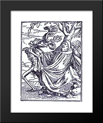 Death and the Abbott 20x24 Framed Art Print by Hans Holbein the - Print Abbott