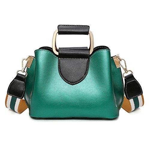 Nuevo De Messenger Rojo Green Cuadrado Pequeño Hombro Ancho Bag Fashion Bolso Meaeo Bolso Cinta SqTd4S