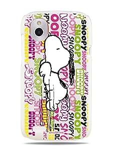 GRÜV Premium Case - 'Peanuts Snoopy Graffiti Tags' Design - Best Quality Designer Print on White Hard Cover - for HTC Desire X / V T328E T328W