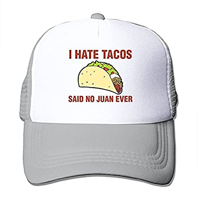 ZMvise I Hate Tacos Said No Juan Ever Funny Gift Trucker Hat Street Dancing Baseball Cap