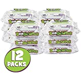 Boogie Wipes Soft Natural Saline Wet Tissues for Baby and Kids Sensitive Nose, Hand and Face with Moisturizing Aloe, Chamomile and Vitamin E, Unscented, 30 Count, Pack of 12