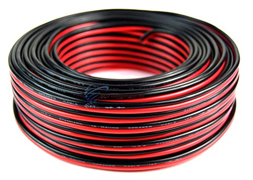 Audiopipe 100' Feet 16 GA Gauge Red Black 2 Conductor Speaker Wire Audio Cable ()