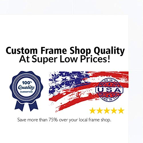Poster Palooza 8.5x11 Lacquer White Complete Wood Picture or Document Frame with UV Acrylic, Backing, Hardware