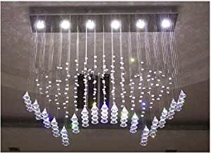 GOWE 6 lights Sector LED crystal chandelier aslo for home indoor dinning room parlor lighting