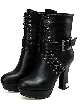 Mujer Botines Zapatos – Botas – Mujer vestido/LÄSSIG – Piel sintética – Bobinas tacón