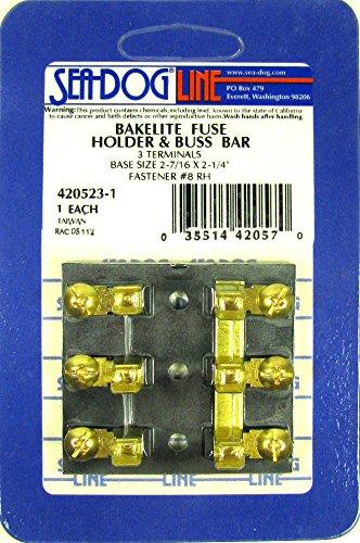 420523 Sea-Dog Line Bakelite Fuse Holder & Buss Bar 3 Terminals SURPLUS 132-1516 (Bakelite Bar)