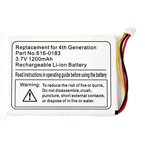 Fenzer Replacement 1200mAh Battery for Apple iPod Photo 4th 4 Gen - Generation Photo 4th Ipod