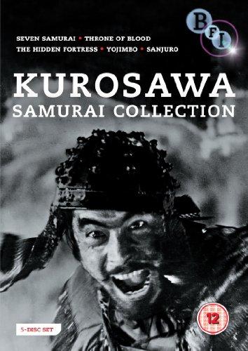 Kurosawa Samurai Collection - 5-DVD Box Set ( Shichinin no samurai / Kumonosu-jô / Kakushi-toride no san-akunin / Yojimbo / Tsubaki Sanjûrô ) ( S [ NON-USA FORMAT, PAL, Reg.2 Import - United Kingdom ]