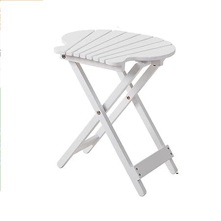 ZZHF Plegable de la mesa Balcón simple mesa de madera maciza al ...