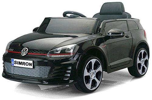 simron Golf 7 VW Golf GTI Cabriolet Elektro Kinderauto Kinderfahrzeug Ride-On 12V Kinder Elektroauto -SCHWARZ-
