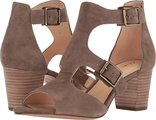CLARKS Artisan by Womens Deloria Kay Dress Sandal Olive Suede Otwxhvn