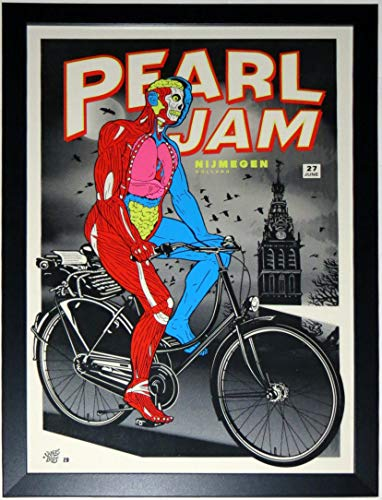 Pearl Jam 2010 Nijmegen Holland Tour Concert Poster by Ames Bros 6/27/10 - Professionally Framed 18x28