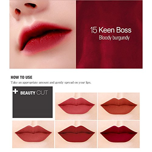 Amazoncom Bbia Last Velvet Lip Tint 5 Colors Set Boss Series
