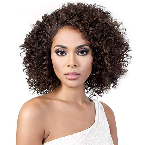 (Motown Tress Synthetic Hair Lace Front Wig Swiss Lace L. Dora (1B))