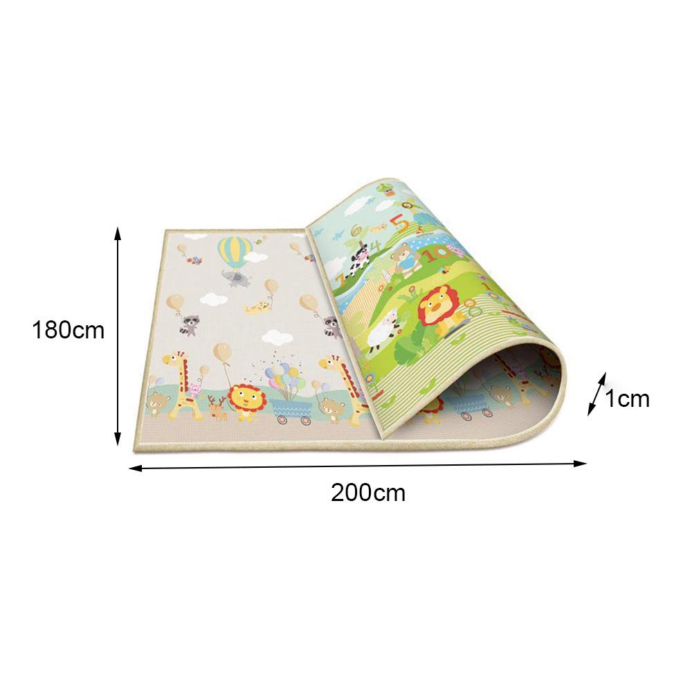 Children Play Mat Moonvvin Baby Crawling Mat Double-Sided Waterproof Kids Playing Gym Mats Ideal Gift for Baby Baby Gift 79x71Extra Large