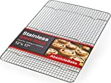AbsoluteBake Cooling Rack Stainless Steel Oven and Dishwasher Safe Fits in Half Sheet Cookie Pan