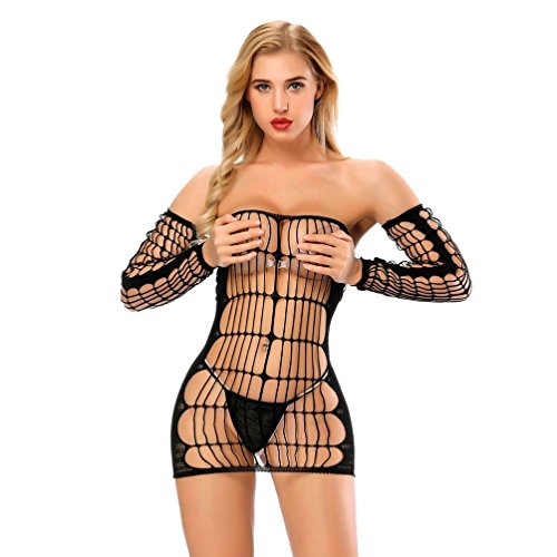 DongDong Big Promotion! Lady Sexy Lingerie Mesh Hollow Out Seduction Stockings Open Underwear - Seduction Kit
