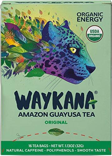 (WAYKANA Original Green Guayusa Tea Bags (16 count) | Healthy Coffee Alternative | Boost Energy, Performance & Mental Clarity | Antioxidant Tea | Naturally Sweet No bitterness | Feel the Jaguar Energy!)