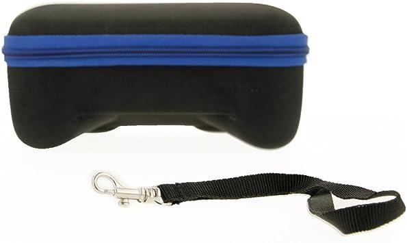 REY Maletín de Transporte para Mando Pro y Soporte de Joy-con de Nintendo Switch, Funda Protectora Estuche de Viaje en Color Negro y Azul: Amazon.es: Electrónica