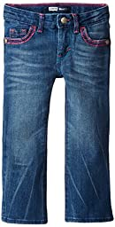 Levis\' Little Girls\' 715 Thick Stitch Bootcut  Jean, Blue Rapids, 2T