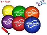 ikhan Sports Dodgeball Balls - Six Pack with Mesh, Pump and Needle
