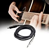 3M Guitar Bass 1/4' USB TO 6.3mm Jack Link Connection Instrument Cable Adapter