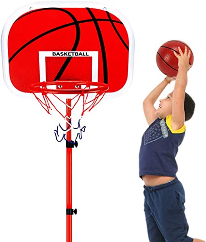 Free Standing Basketball Hoop Net Kids Backboard Stand Set Adjustable /& Portable