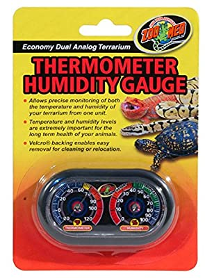 Zoo Med Economy Analog Dual Thermometer and Humidity Gauge by Zoo Med Laboratories