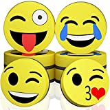 Magnetic Smiley Face Circular Dry Whiteboard Eraser - Magnetic Whiteboard Eraser for Home, Office and School Classroom (8)