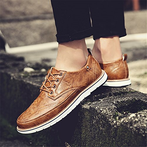 Pure PU formale Lace Business Scarpe Shoe Brown da Primavera Pure Black uomo Estate Un lavoro Grey Pure up Business Scarpe Traspirante Casual Bianco leggero XUE qfvtZwcaR7