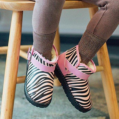 BZLine® Baby Zebra Muster Mädchen Schuhe Winter Martin Schnee Stiefel Schuhe Pink