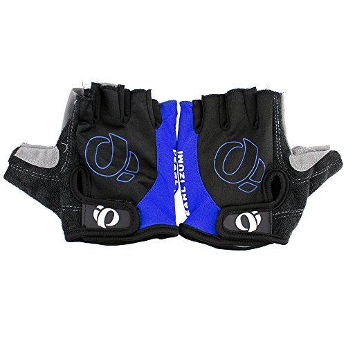 MeanHoo Non-Slip Gel Pad Mountain Gloves Men's Women's Sportswear Bike Bicycle Cycling Riding Short Half Finger Gloves Breathable Mesh blue with black color