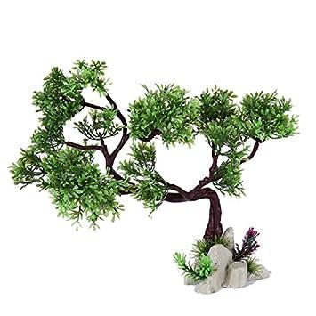 JUZIPI Decoración para Acuario con árbol de Acuario, Decoración para peceras y Peces Betta, Adornos de Acuario y Plantas de Acuario respetuosas con el Medio ...