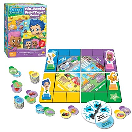 "Nickelodeon Bubble Guppies Fin-Tastic Field Trips Board Game, 10 5"" x 8"""