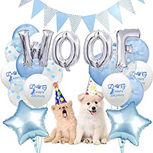 Earlyad Dog Party Supplies Woof, Tema de combinación de Globos ...