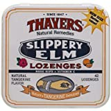 Thayers Slippery Elm Lozenges, Tangerine, 42 Count