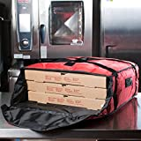 Rubbermaid FG9F3700RED ProServe 21 1/2'' x 19 3/4'' x 7 3/4'' Red Insulated Large Nylon Pizza Delivery Bag