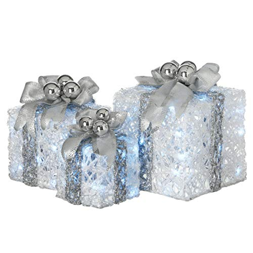 Lighted Christmas Boxes Outdoors in US - 8