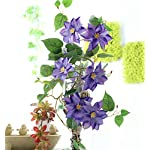 """Charmly 5 Pcs Artificial Plum Blossom Fake Wintersweet Long Stem Plastic Flowers Home Hotel Office Wedding Party Garden Decor 27.5"""" High White"""