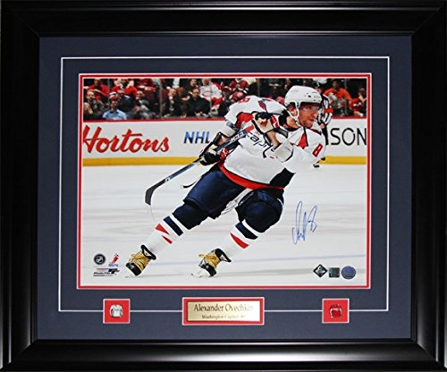 Midway Memorabilia Alexander Ovechkin Washington Capitals Signed 16X20 Frame
