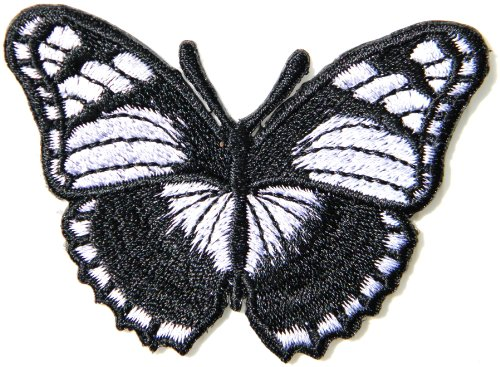 Black Butterfly Punk Rock Hippie Tatoo Lady Rider Biker Tatoo Jacket T-shirt Patch Sew Iron on Embroidered Sign Badge Costume