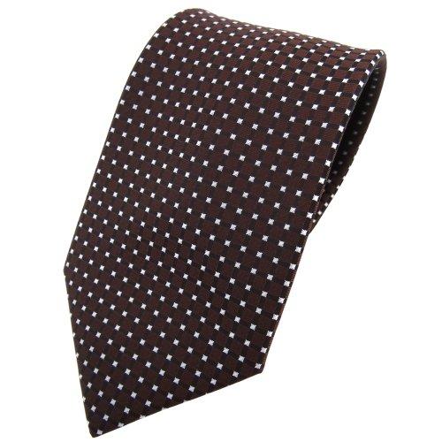 TigerTie cravate brun foncé argent à pois - Tie