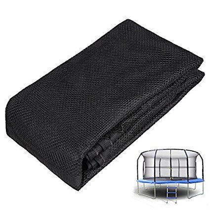 Anfan 14 ft Trampoline Net, Heavy Duty Poles UV Resistant Trampoline Replacement Safety Net - Safety Net Only
